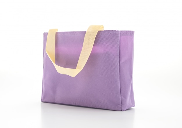 Fabric bag on white