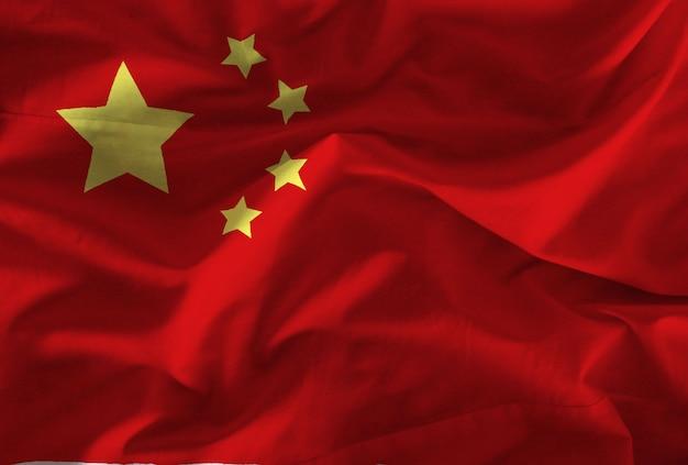 Fabric chinese flag