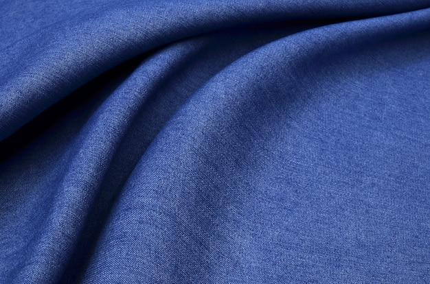 Ткань джинсовая голубая