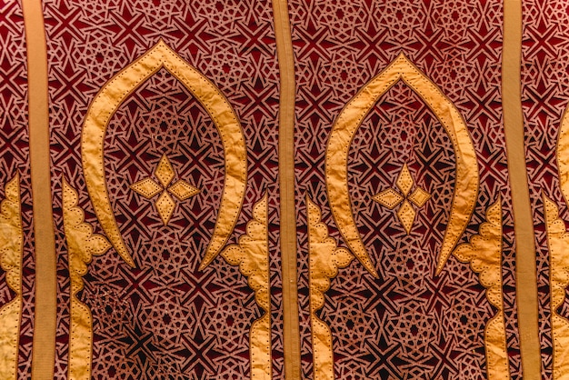 Fabric detail with arabic designs, for background use.