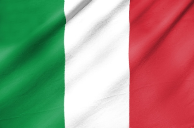 Fabric flag of italy