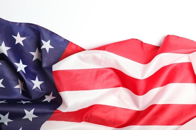 Ткань флаг америки вид сверху крупным планом