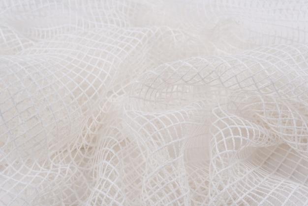 Fabric mesh is white, texture