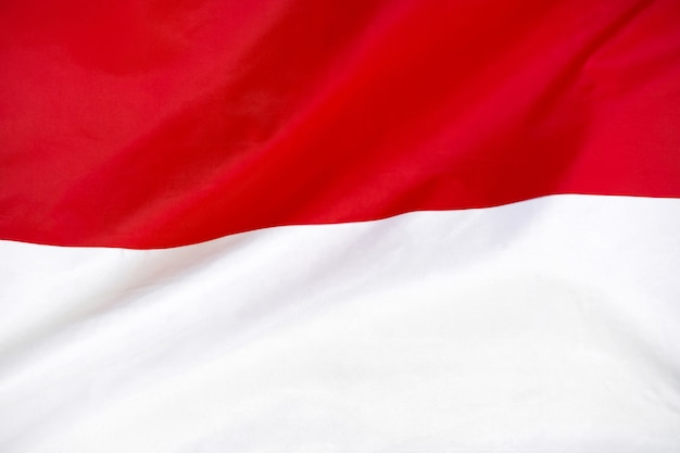Fabric texture flag of indonesia.
