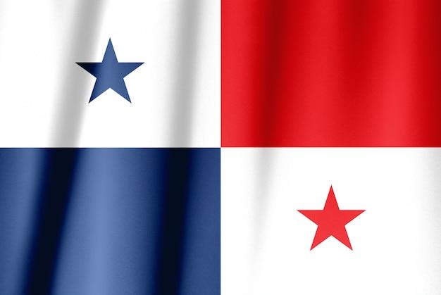 パナマの生地のテクスチャフラグ