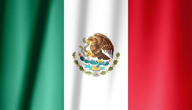 メキシコの旗の生地のテクスチャ