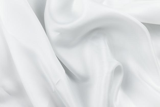 Текстура ткани белый мятый фон