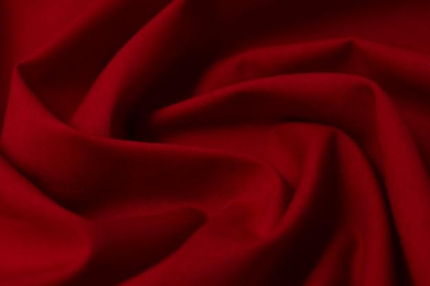 패브릭, 티슈, 섬유, 천, 패브릭, 웹, 재료 물결 모양의 빨간색 클로즈업.
