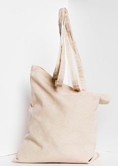 Fabric tote bag with handles
