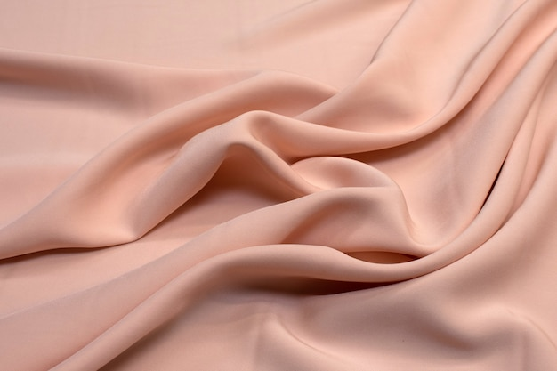 Fabric viscose (rayon). color beige pink. texture,