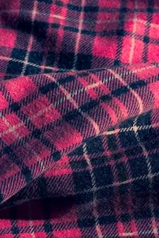 Ткань с красочным клетчатым узором. розовая клетчатая ткань. комбинация дизайна тканевого флажка розового белого серого цвета.