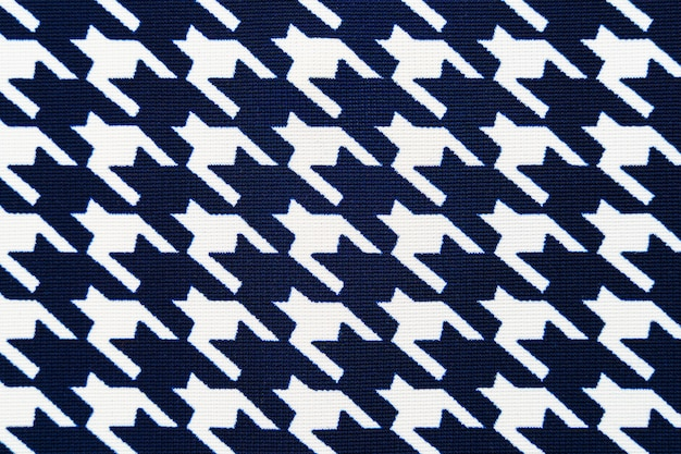 Fabric with goose foot pattern. cloth background