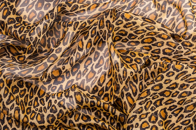 Fabric with leopard print