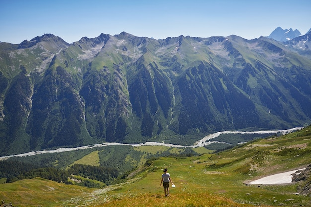 Fabulous mountains of the caucasus in the summer