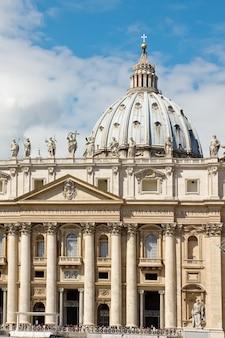 Facade of basilica of saint peter, vatican, rome