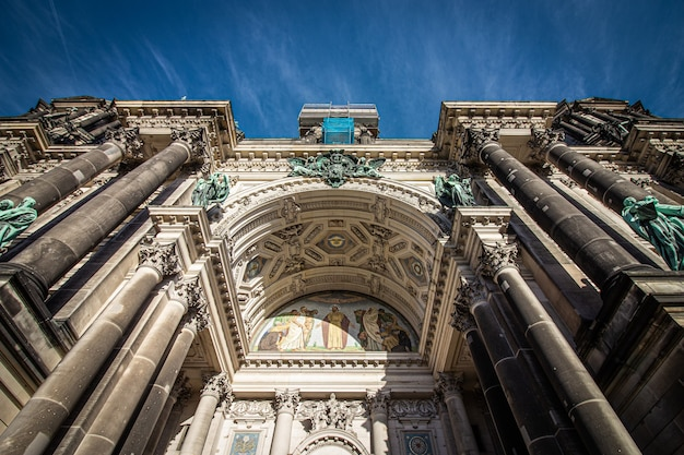 Facade of berlin cathedral in berlin, germany.
