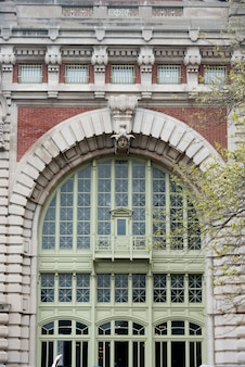 Facade of a building, ellis island, jersey city, new york state, usa