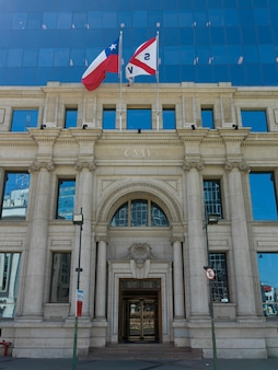 Facade of the government building, valparaiso, chile