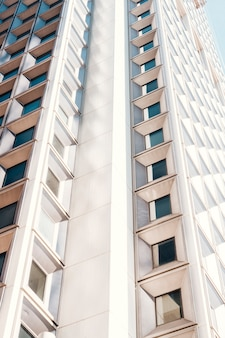 Facade of highrise residential building