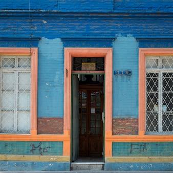 Facade of a house, calle antonia lopez de bello, santiago, santiago metropolitan region, chile