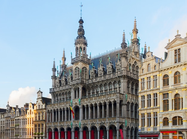 Facade of maison du roi at day, brussels, belgium