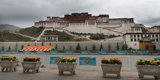 ポタラ宮殿、ラサ、チベット、中国の外観