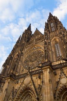 Фасад собора вита, прага, чехия