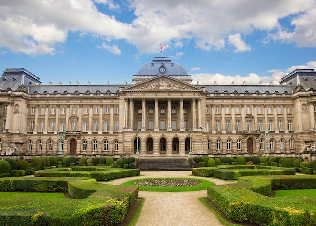 Facade of  royal palace in brussels , belgium