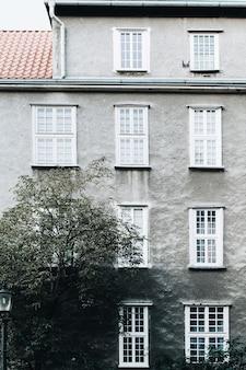 Facade of traditional european building