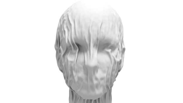 Face close-up covered with cloth