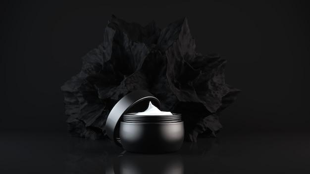 Крем для лица на черном косметика