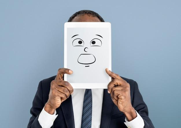 顔の表情感情的な人々の概念