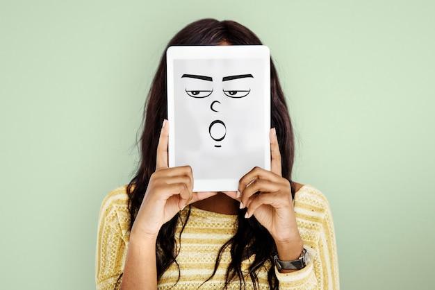 Концепция эмоциональных людей выражение лица