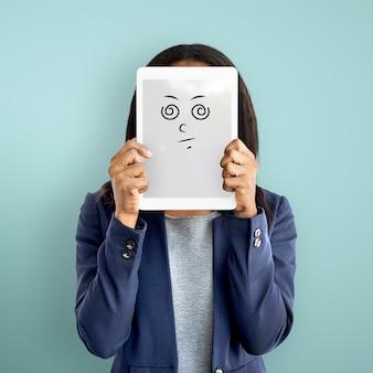 Concetto di persone emotive di espressione facciale