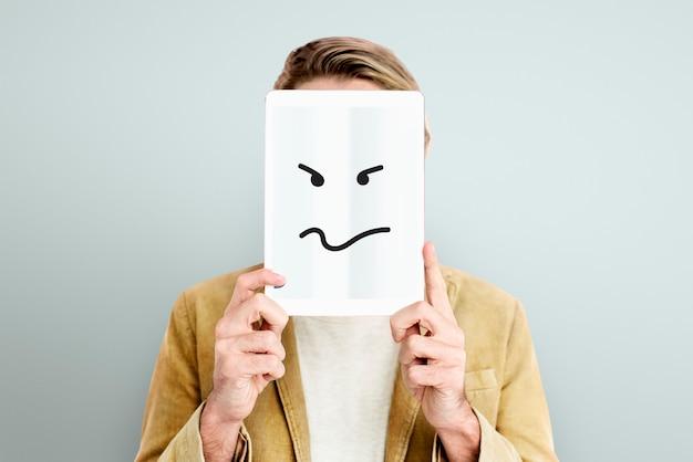 Выражения лица иллюстрации эмоции чувства