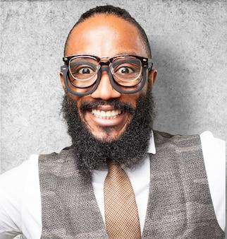 Face of man close up smiling