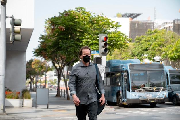 Face mask protection in daily life