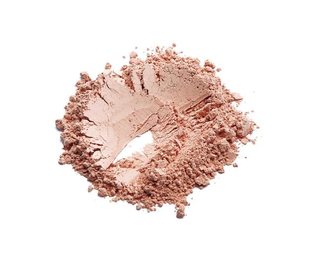 Face powder blush isolated on white