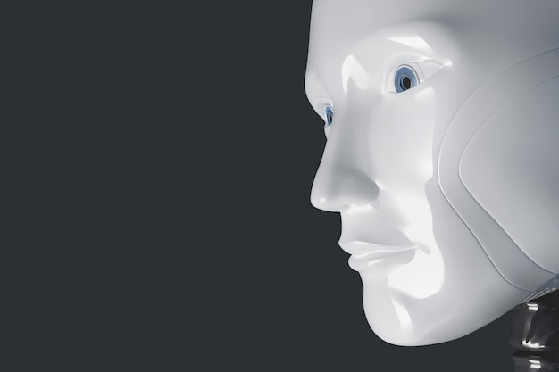 The face of the robot. 3d illustration
