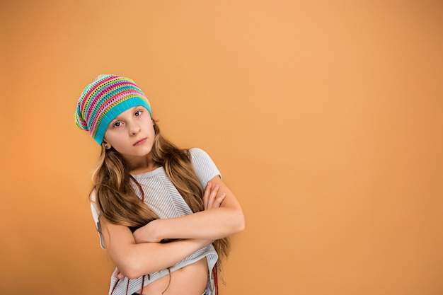The face of sad teen girl