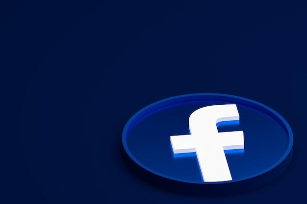Facebook 3d логотип