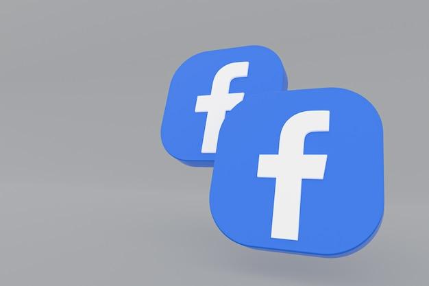 Facebook application logo rendering on gray