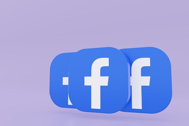 Facebook application logo rendering on purple