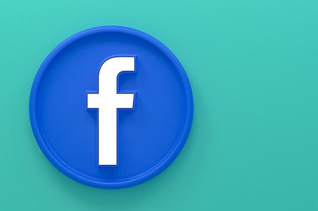 Facebook icon reactions emoji 3d render,social media symbol