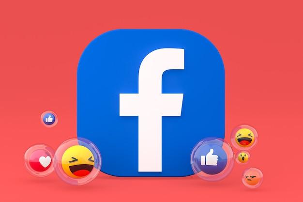 Emojis 3d 렌더링으로 facebook 아이콘
