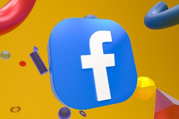 Логотип facebook ig на абстрактном геометрическом фоне