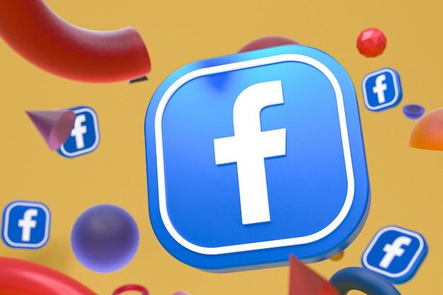 Логотип facebook ig на фоне абстрактной геометрии