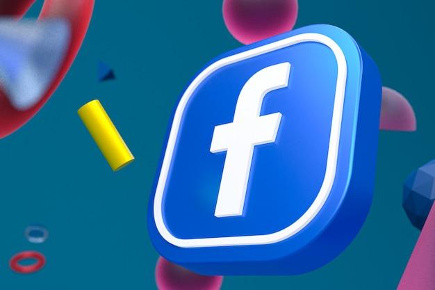 Логотип facebook ig на фоне абстрактной геометрии Premium Фотографии