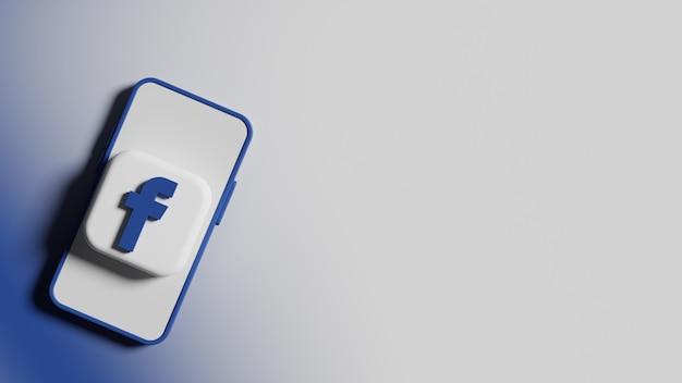 전화 화면 배경 프리미엄 사진의 facebook 로고 버튼