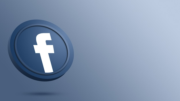 Facebook logo on the round button rendering